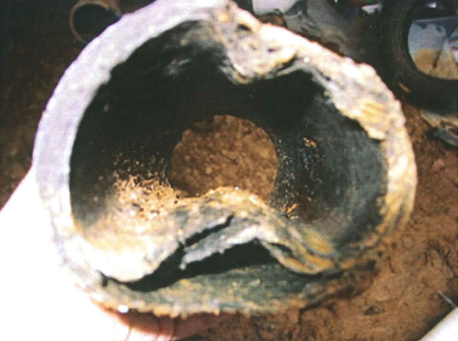 Sewer pipe repair because of a main line clog in Escondido, CA.